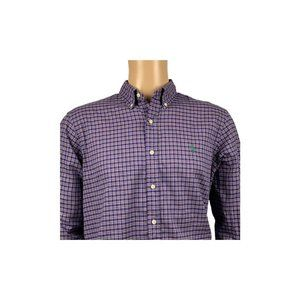 Polo Ralph Lauren Mens Large Plaid Check Purple